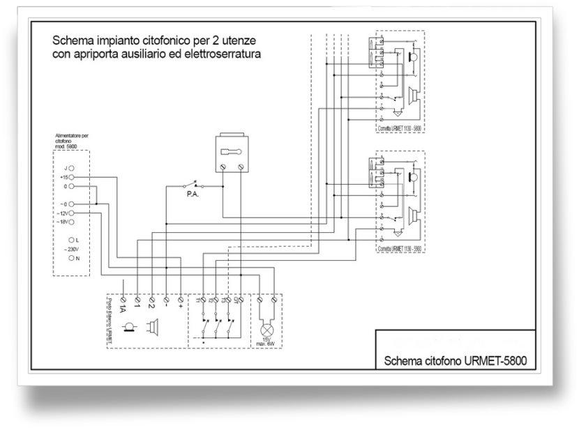 Giuseppe marchetta analogica for Citofono elettronico urmet atlantico schema
